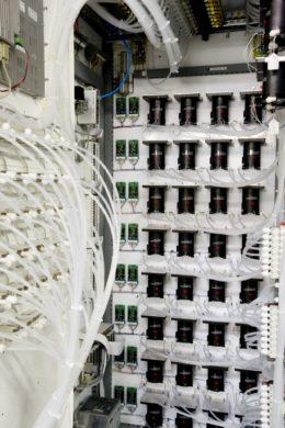 32-point CO monitoring system:  Close-up, interior of Sensor/Control enclosure