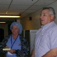 Bob MacKeil with customer