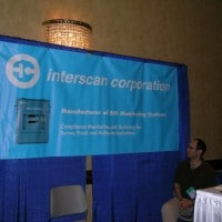 Interscan's booth at IAHCSMM (International Association of Healthcare Central Service Materiel Management) meeting--May, 2004
