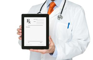 Doc with tablet computer