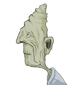 Old man--stylized